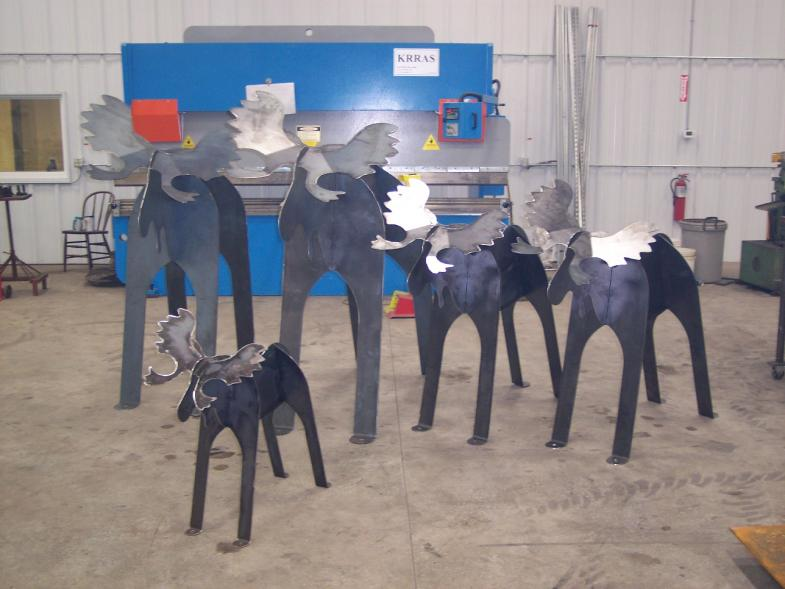 Custom Decorative Steel Yard Moose